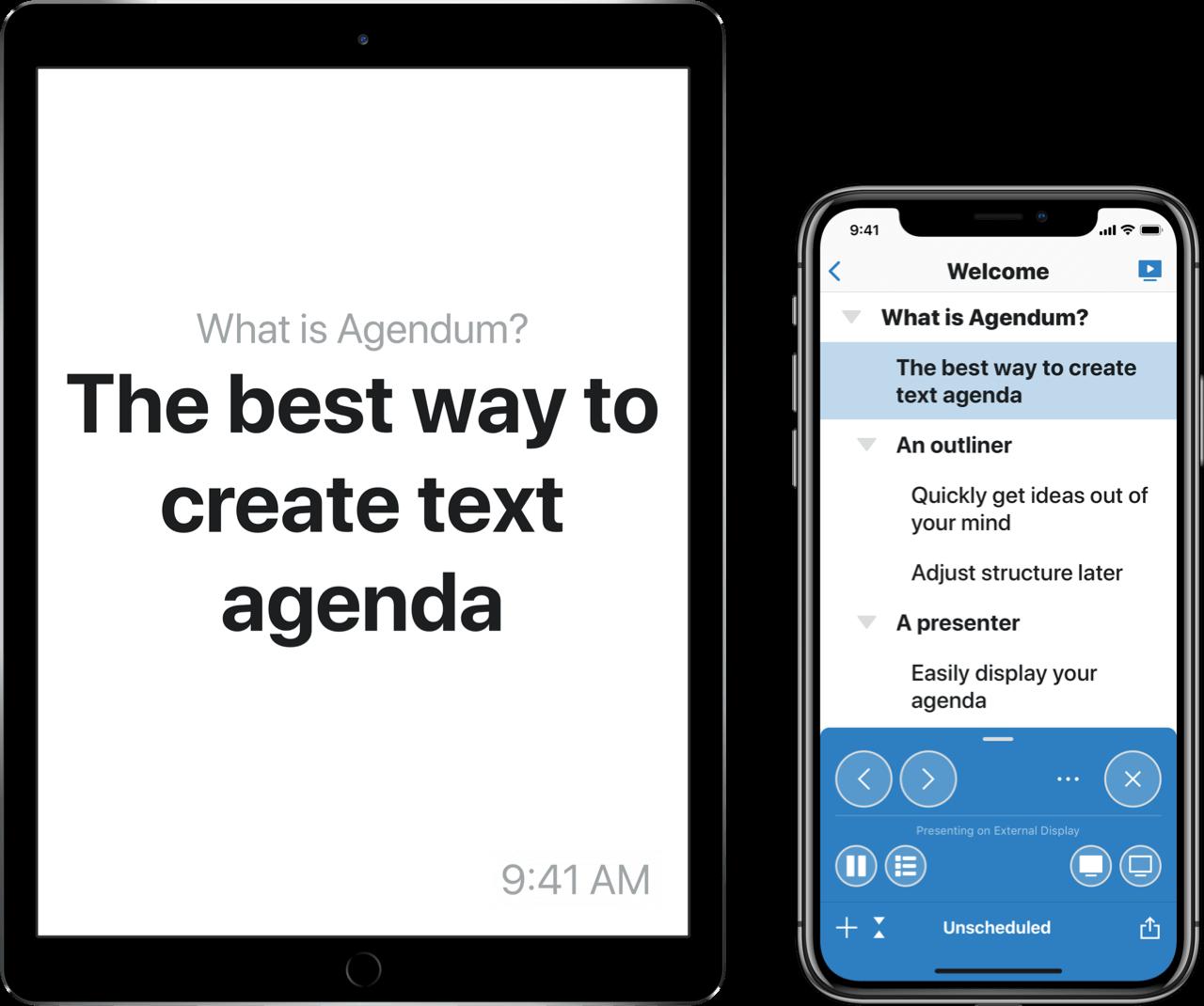 Agendum app