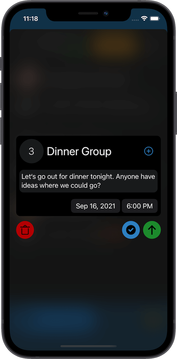 Carrier dark theme